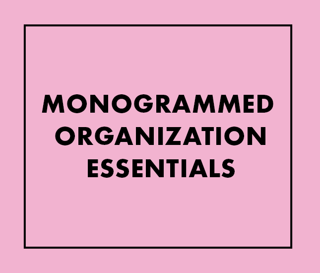 monogrammed organization essentials