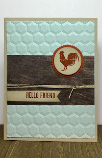 This card uses Stampin' Up!'s Wood Words stamp set.  It also uses the Wood Textures Designer Series Paper Stack, Linen Thread, and Hexagons Dynamic embossing folder.  #stamptherapist #stampinup #handmadeby www.stamptherapist.com