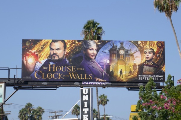 House with Clock in Walls movie billboard