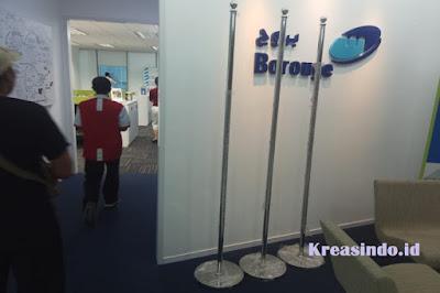 Tiang Bendera Indoor pesanan PT Borouge Indonesia Pte Ltd Jakarta