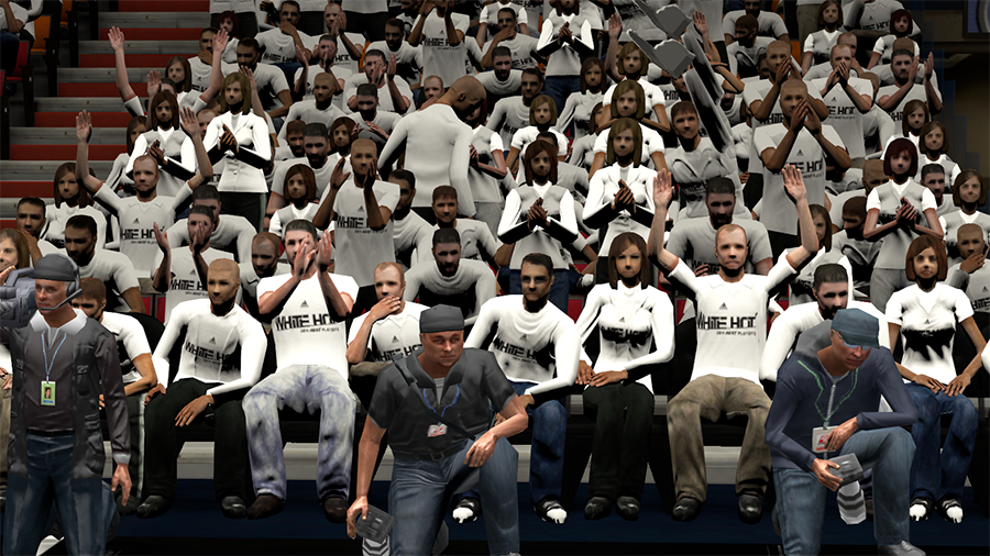 White Crowd Heat Playoffs in NBA 2K14