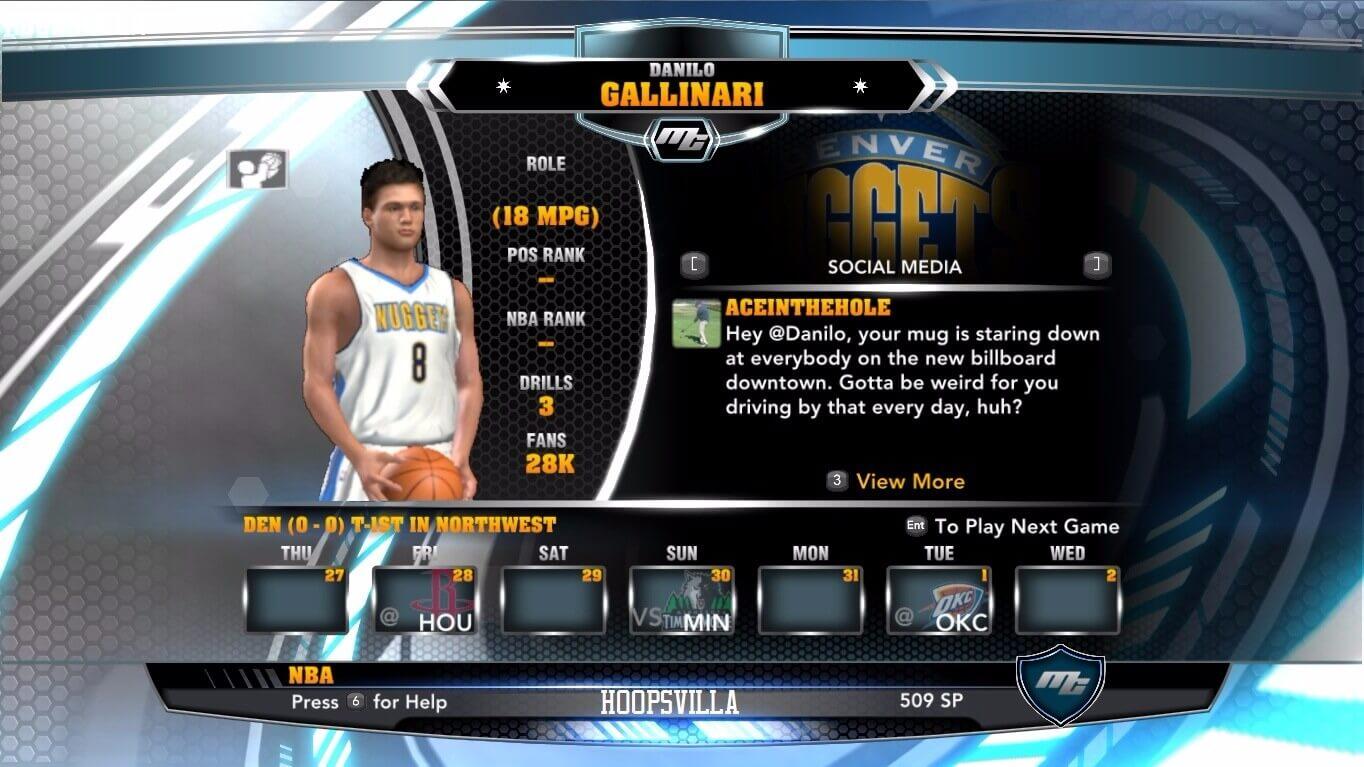 NBA 2k14 MyCareer Mod : Danilo Gallinari - hoopsvilla