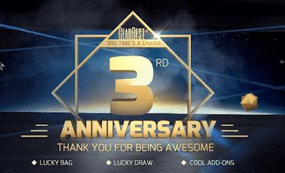 terceiro aniversario gearbest