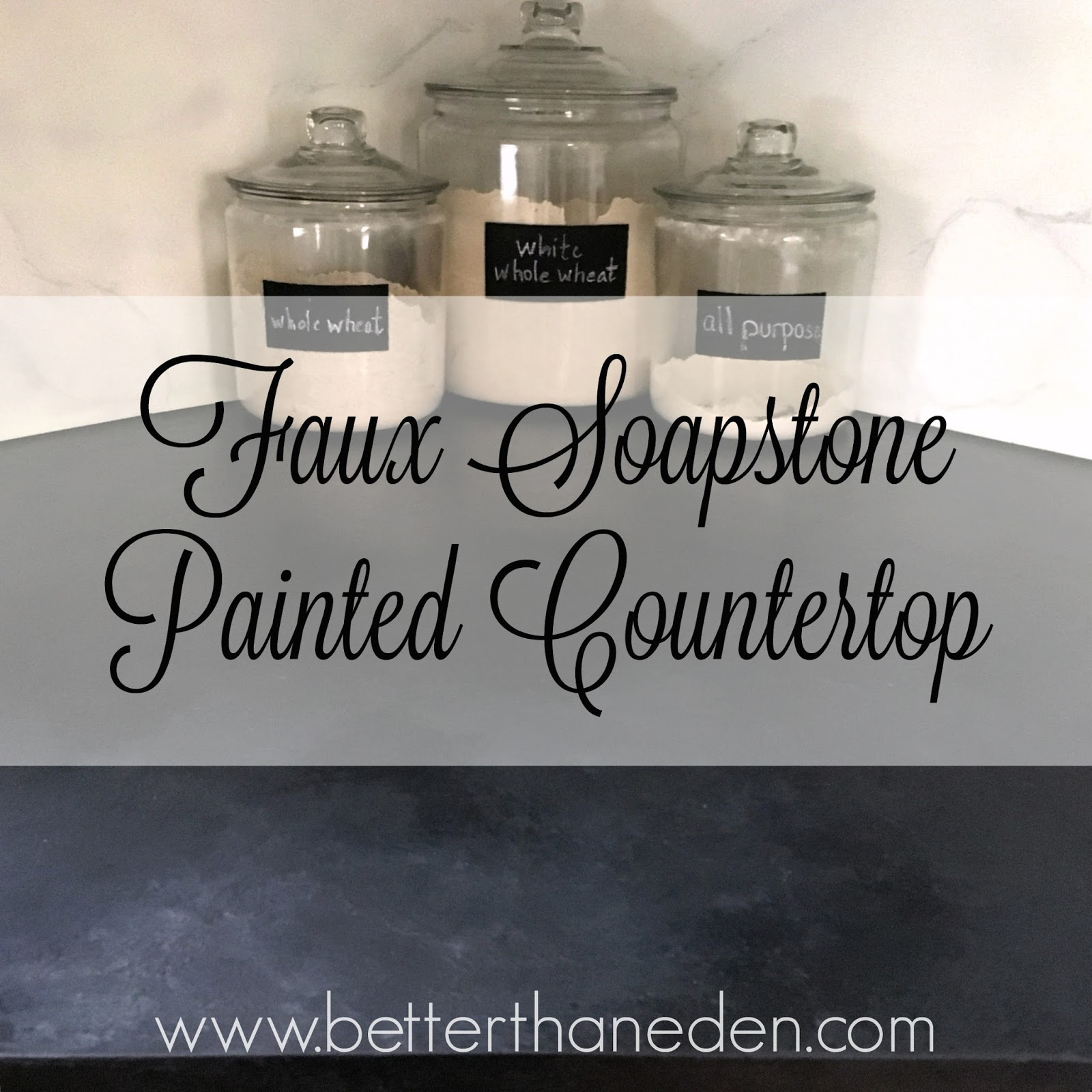 A Faux Soapstone Painted Countertop