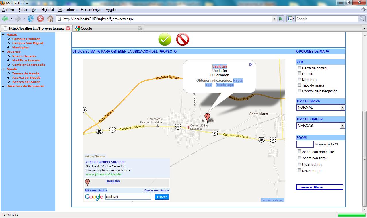 librería de GoogleMap sistema de informacion