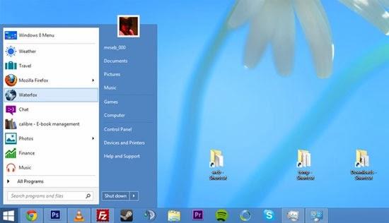 Tự tạo một Start Menu Windows 8 bằng Toolbars