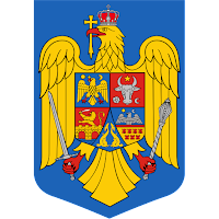 Logo Gambar Lambang Simbol Negara Rumania PNG JPG ukuran 200 px