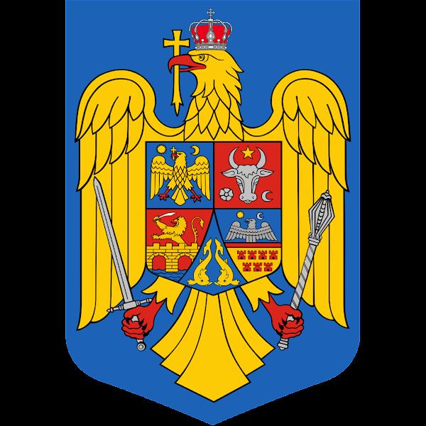 Logo Gambar Lambang Simbol Negara Rumania PNG JPG ukuran 600 px