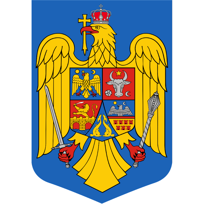 Logo Gambar Lambang Simbol Negara Rumania PNG JPG ukuran 800 px