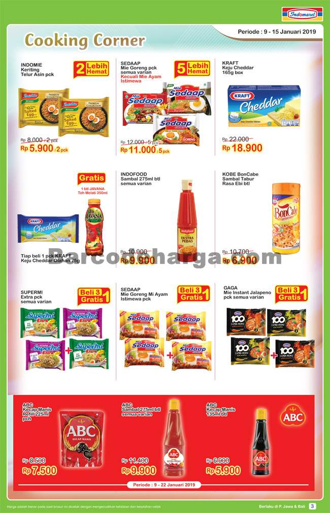 Katalog Promo Indomaret Terbaru 9 15 Januari 2019 Barcodeharga