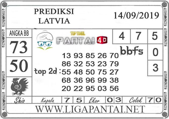 "PREDIKSI TOGEL ""LATVIA"" PANTAI4D 14 SEPTEMBER 2019"