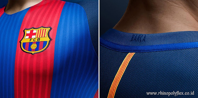 Detail Jersey Barcelona Home 2016-2017