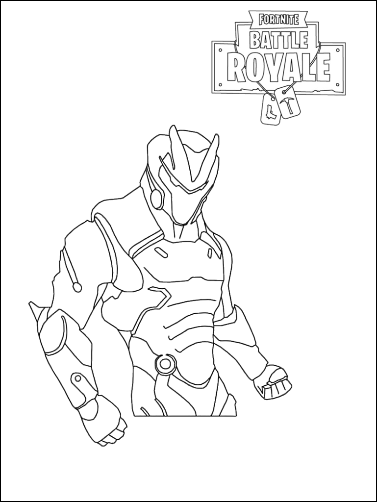 Coloring Pages Fortnite Omega Primitivelife Pw
