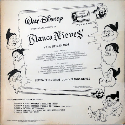 Discos DIsneyland Chile, Disneyland Records