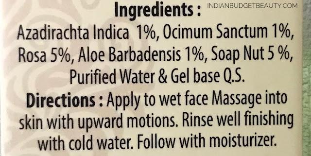 Vedantika Herbals ingredients