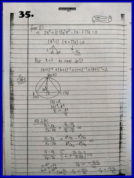IITJEE Competition Notes On Complex Number 35