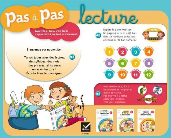 موقع رائع لتعليم القراءة باللغة الفرنسية Pas à pas Lecture