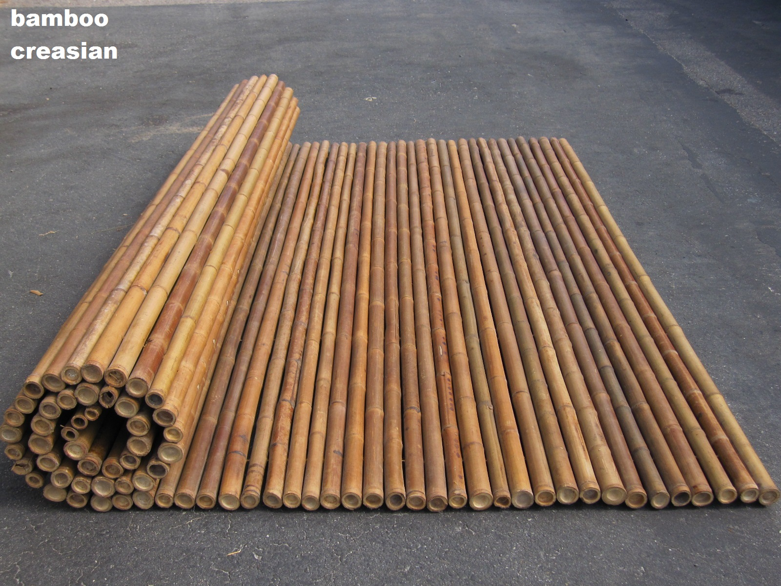 Bamboo Fencing Roll 6ft X 8ft And 1inch A Half Diameter To 2 Inches Every Cane Poles Are Threaded Together With