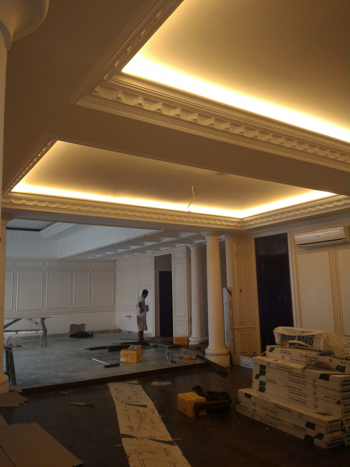 Harga Pasang Plafond Gypsum Terpasang Permeter Persegi