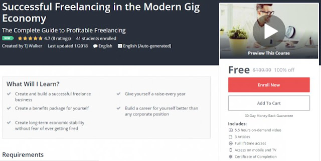 [100% Off] Successful Freelancing in the Modern Gig Economy| Worth 199,99$