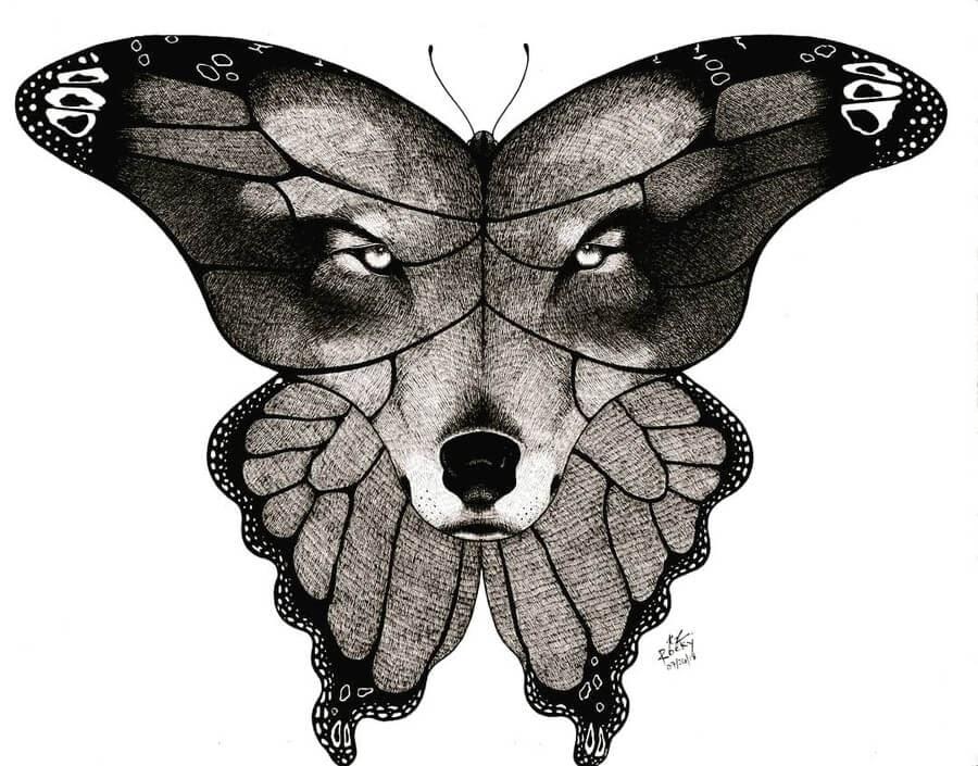 01-Wolf-Butterfly-Rocky-Villaruel-www-designstack-co