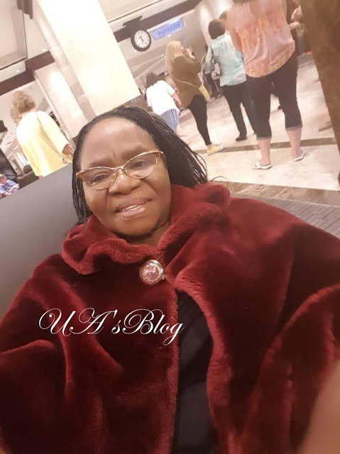 Fayose's Mom Spotted Posing With Donald Trump's Lookalike In America While On Vacation (Photos)