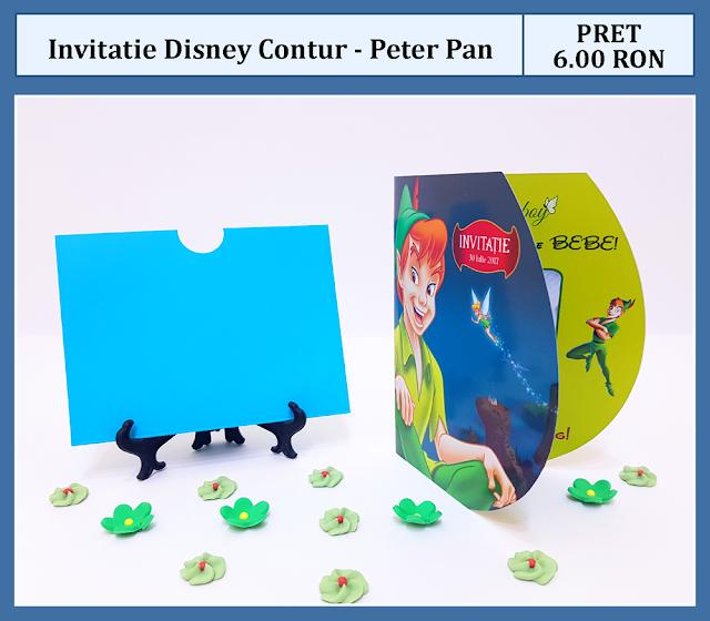 invitatii botez contur Peter Pan