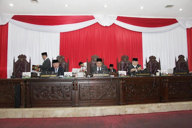 Gubernur Sampaikan Jawaban atas Pemandangan Umum Fraksi-Fraksi di DPRD Sumsel