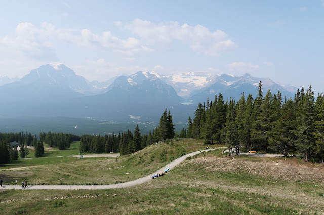From the Viewpoint of Lake Louise Summer Gondola