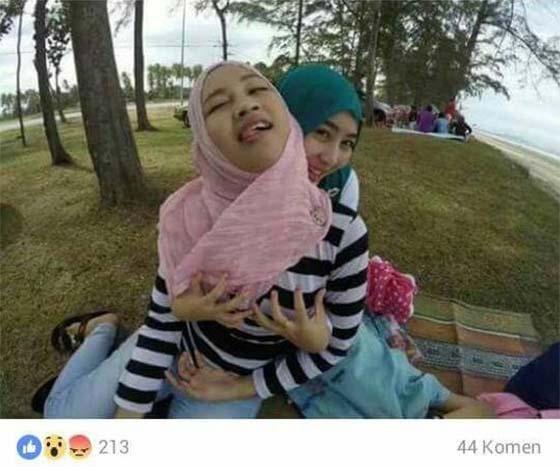 Aksi Lucah Dua Gadis Bertudung Ini Dikecam Ramai