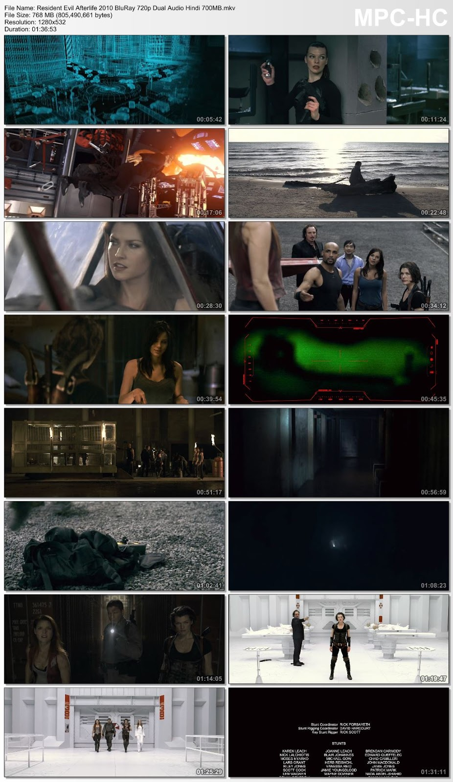 Resident Evil Afterlife 2010 Dual Audio Hindi 720p BluRay 700MB Desirehub
