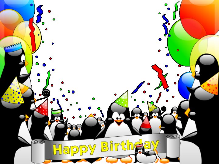 Penguins In Party Wishes You A Happy Birthday ツ Happy