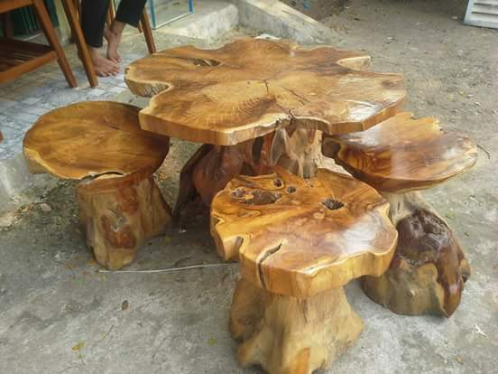 furniture unik dari akar jati