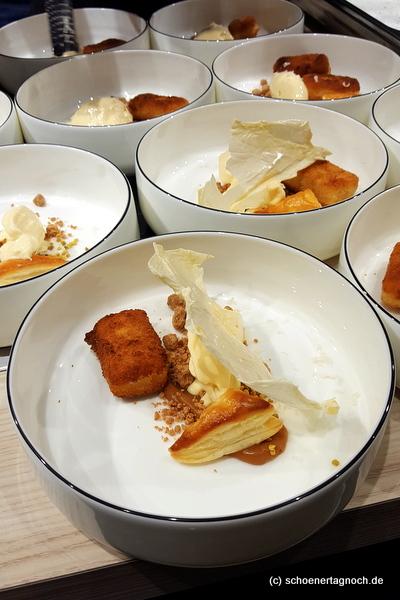 Milch & Honig - Dessert beim AEG-Event auf der Slow Food Messe