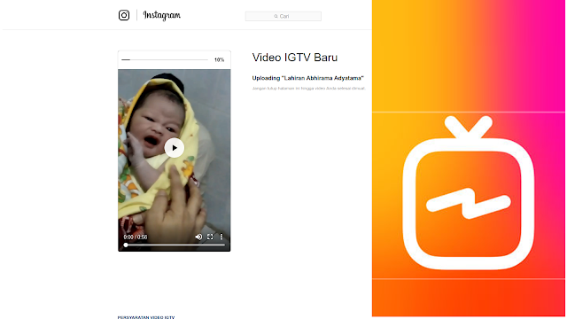 upload video igtv via web