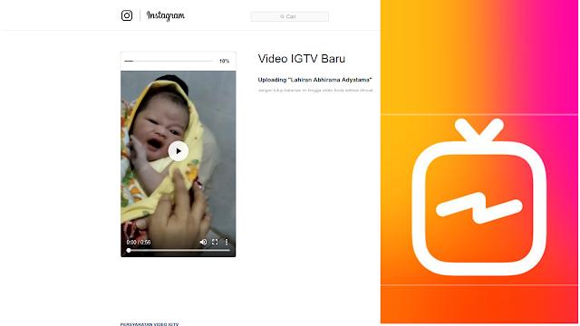 upload video igtv via web