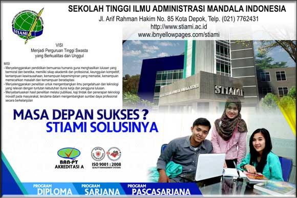 Kelas Karyawan STIAMI Sekolah Tinggi Ilmu Administrasi Mandala Indonesia
