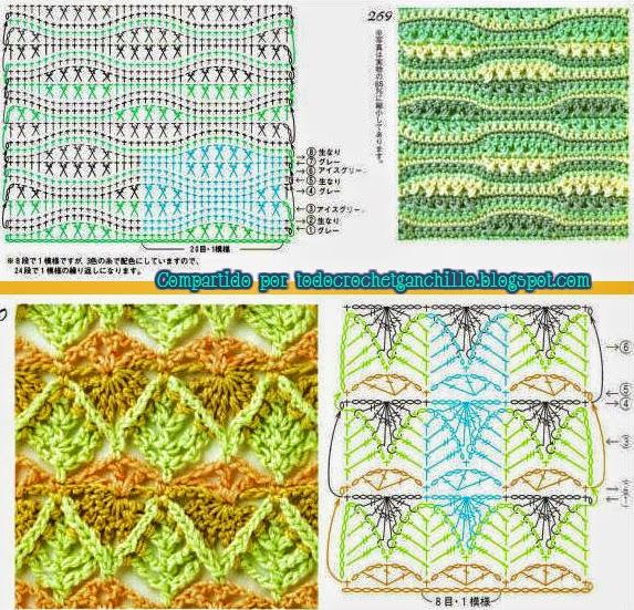 Puntos nuevos crochet ganchillo