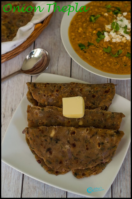 Onion Thepla Recipe | Onion Paratha Recipe