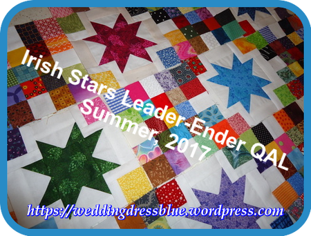 Irish star quilt along