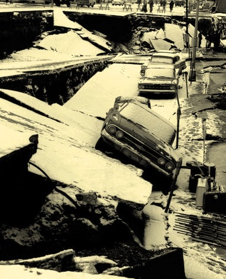 Destruction of liquefaction, 1964 Alaskan earthquake