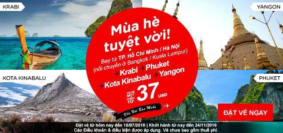 Khuyến mãi Air Asia du lịch Thái Lan dành cho phái đẹp