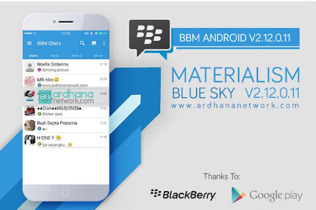 BBM MOD MATERIALISM BLUE SKY V2.12.0.11 Apk Terbaru