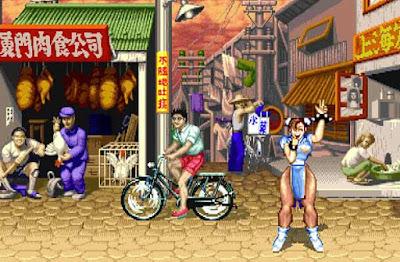 Chin Li nel suo stage di ''Street Fighter II''