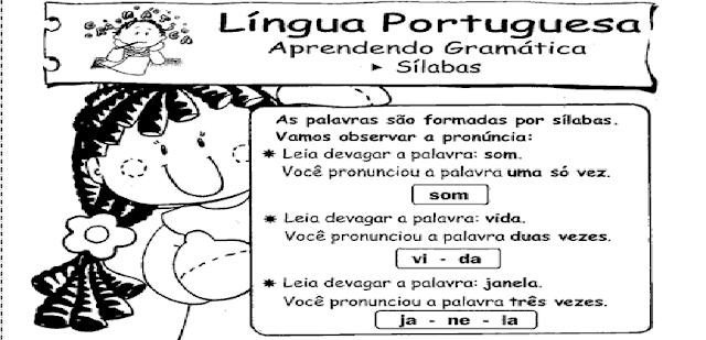 Várias Atividades de português para o ensino fundamental para imprimir