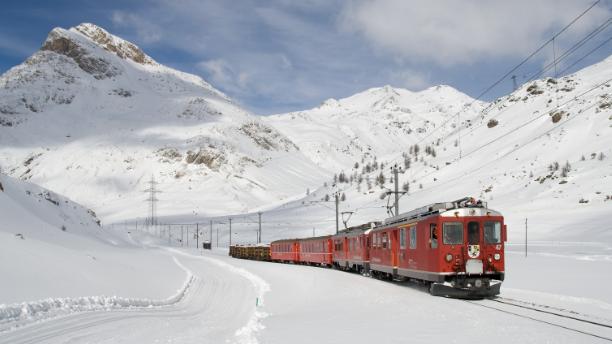Massive Rhaetian Railway line