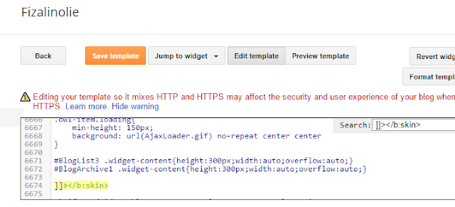 Cara Membuat Scroll Pada Widget Archive Blog Paling Senang Dan Mudah
