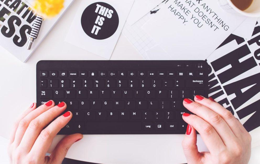Bloggerin an der Tastatur
