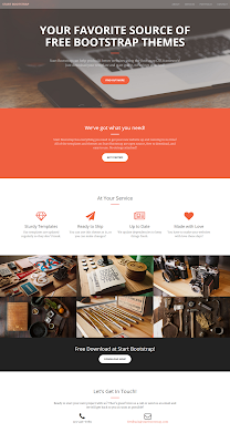 Creative Single or One Page Bootstrap Free Template
