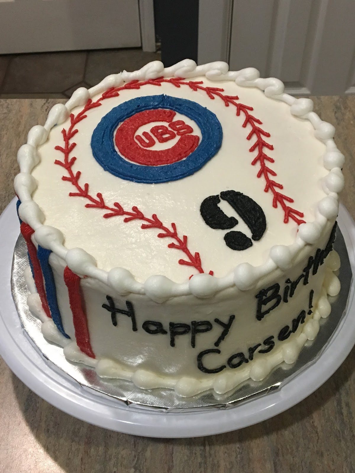 A Counselors Confections Cubs Baseball Cake
